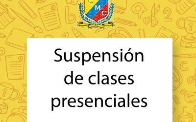 Suspensión de clases presenciales
